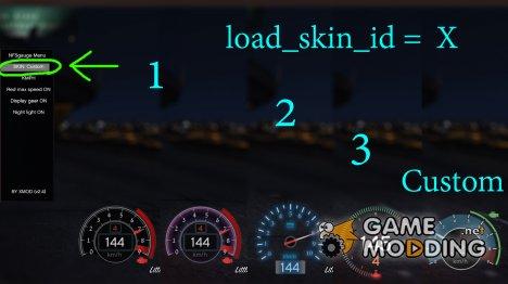 NFS gauge - RPM Gear Speedometer & Timer v2.5.3 для GTA 5