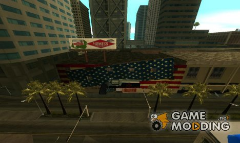 Retextured Gun Shop in Los Santos для GTA San Andreas