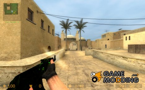 Greenish Ak47 for Counter-Strike Source