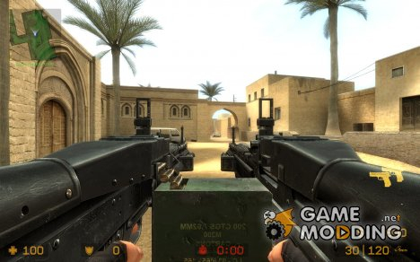 Dual M60'S!! for elites. для Counter-Strike Source