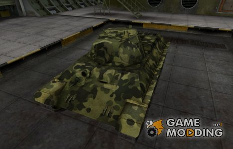 Скин для А-32 с камуфляжем для World of Tanks