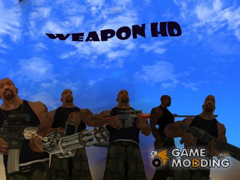 Pack weapon HD для GTA San Andreas