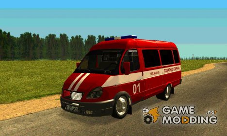 ГАЗ-3221 Пожарная охрана для GTA San Andreas