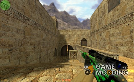 Techno Scout(Black And Green) для Counter-Strike 1.6