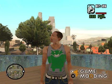 Замена белой майки для GTA San Andreas