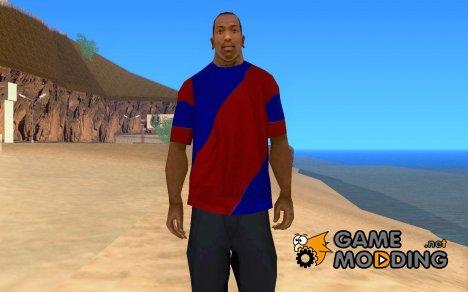 Сине-красная футболка для GTA San Andreas