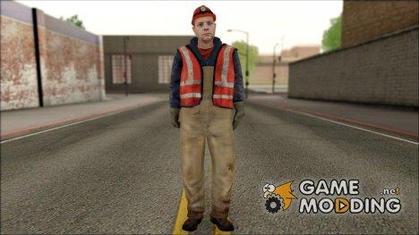 Новый скин рабочего for GTA San Andreas