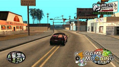 Спидометр в стиле аниме Date a Live для GTA San Andreas