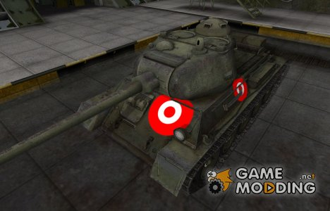 Зона пробития для Т-43 для World of Tanks