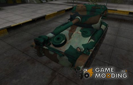Французкий синеватый скин для AMX 12t for World of Tanks