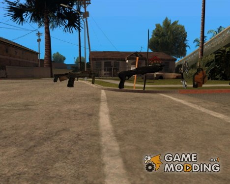 HD оружие for GTA San Andreas