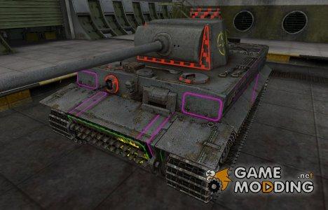 Контурные зоны пробития PzKpfw VI Tiger for World of Tanks