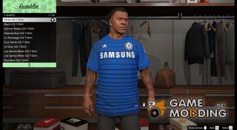 Футболка Chelsea для Франклина for GTA 5