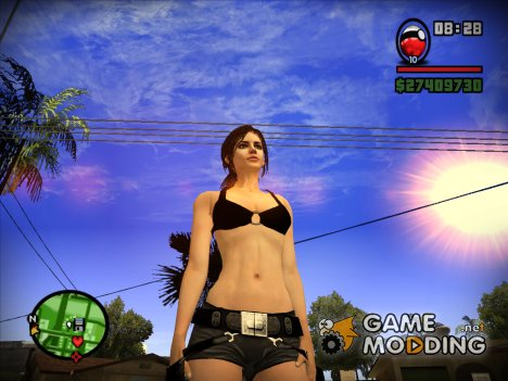 Skin Lara Croft Tomb Raider 9 для GTA San Andreas