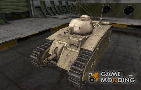 Пустынный французкий скин для B1 for World of Tanks