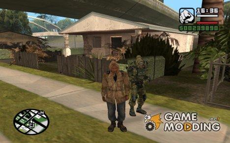 Пак оружия и скинов из игры S.T.A.L.K.E.R. for GTA San Andreas