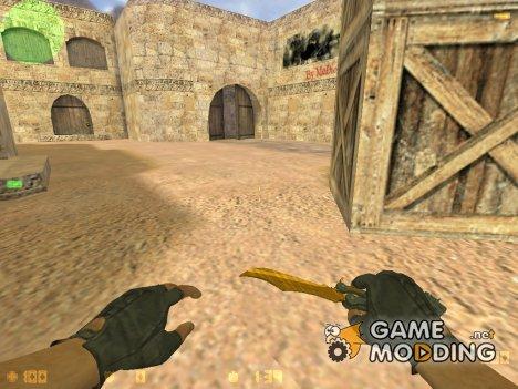 Нож бабочка тигровый зуб для Counter-Strike 1.6