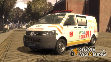 Volkswagen Transporter 2011 ambulance for GTA 4