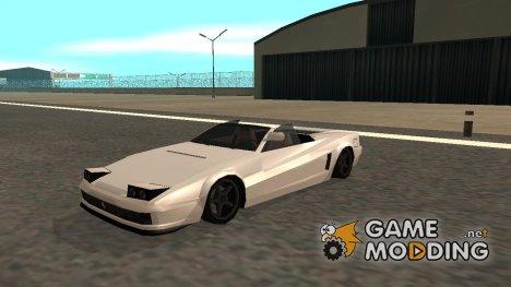 New Cheetah кабриолет в стиле SA для GTA San Andreas