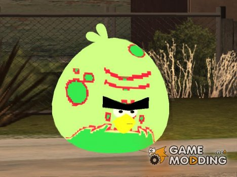 Green Fat Bird from Angry Birds Space for GTA San Andreas