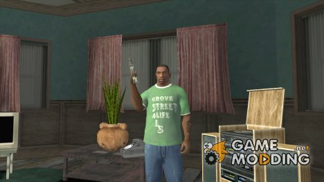 Футболка банды Grove Street for GTA San Andreas