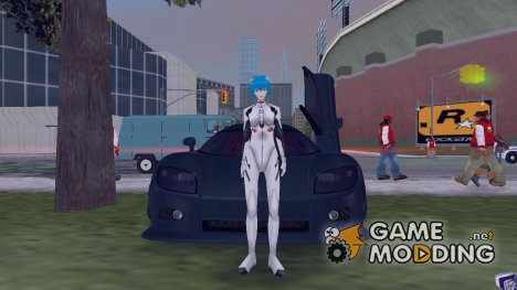 Рей в костюме из Конец Евангелиона для GTA 3