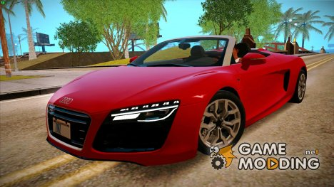 Audi R8 V10 Spyder 2014 for GTA San Andreas