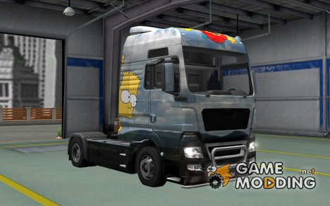 Скин Simpsons для MAN TGX for Euro Truck Simulator 2