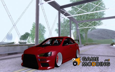 Mitsubishi Lancer Evolution X v2 Make Stance for GTA San Andreas
