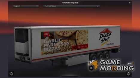 Скин Pizza Hut для прицепа для Euro Truck Simulator 2