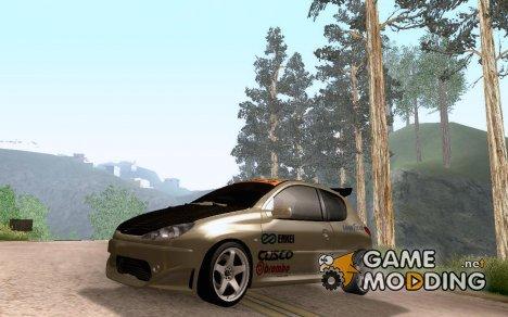 Peugeot 206 Tuning for GTA San Andreas
