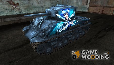 Шкурка для M4A3E8 Sherman TouHou for World of Tanks