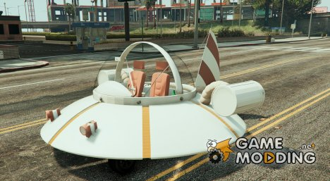 Rick and Morty Spaceship  for GTA 5