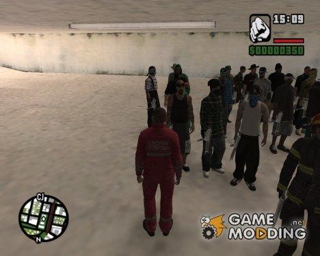 Государственные структуры и банды для GTA San Andreas