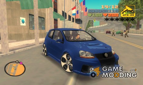 "Volkswagen Golf GTI W12 ""TT Black Revel"" for GTA 3"