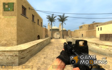 Imitates COD4 M4 for CSS M4A1 для Counter-Strike Source