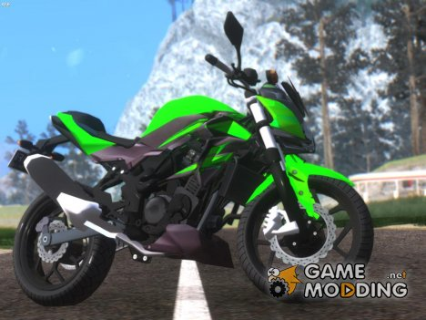 Kawasaki Z250SL Green for GTA San Andreas
