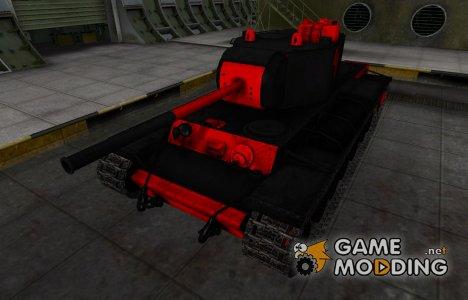 Черно-красные зоны пробития КВ-3 для World of Tanks