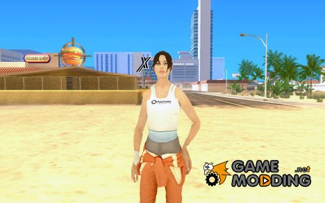Chell from Portal 2 for GTA San Andreas