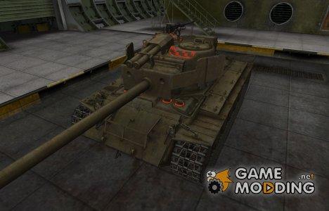 Контурные зоны пробития T26E4 SuperPershing for World of Tanks