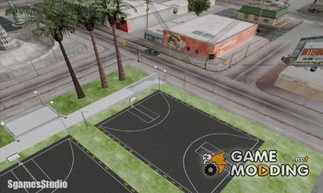 New basketball court NXT for GTA San Andreas