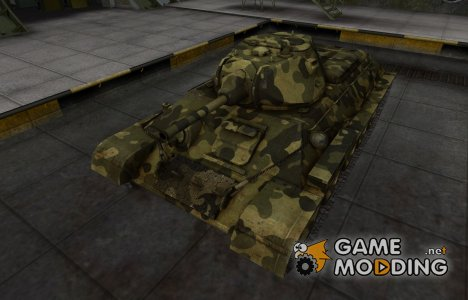 Скин для T-34 с камуфляжем for World of Tanks