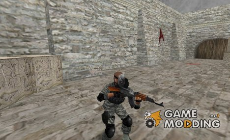 A professional mercenary (modified version). для Counter-Strike 1.6
