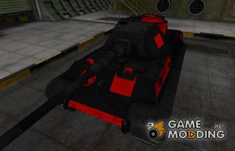 Черно-красные зоны пробития PzKpfw VIB Tiger II for World of Tanks