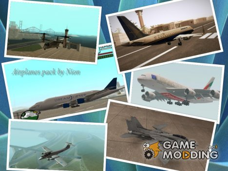 Airplanes pack by Nion для GTA San Andreas