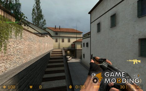 Ak for M4 *Fixed Silencer* for Counter-Strike Source