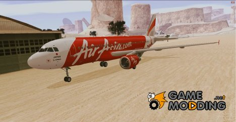 Airbus A320-200 Air Asia Japan for GTA San Andreas