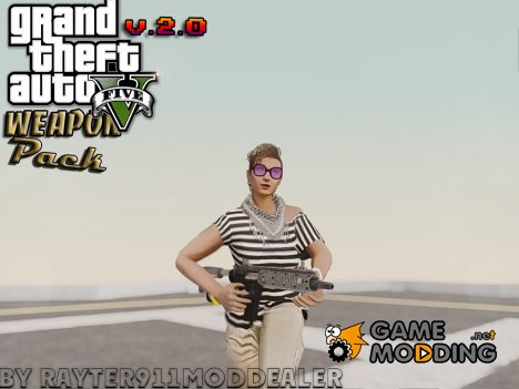 Пак оружия из Grand Theft Auto V (v.2.0) для GTA San Andreas
