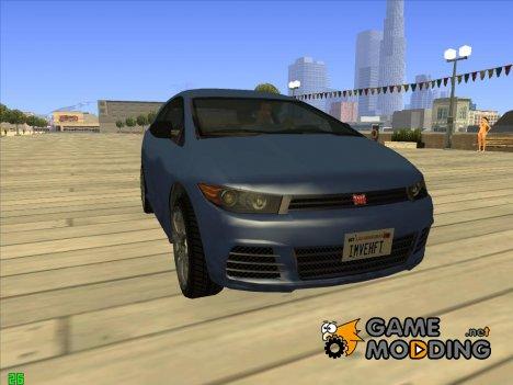Dinka Blista GTA V ImVehFt для GTA San Andreas