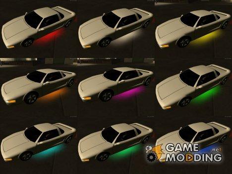 Неоновая подсветка полная версия для GTA San Andreas